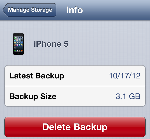 delete iphone backup how to delete your iphone or backups from icloud 7892