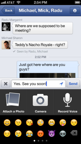Facebook 5.4 for iOS (iPhone screenshot 002)