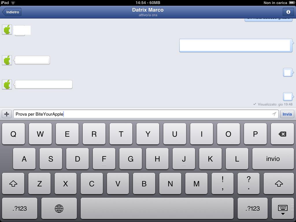 Facebook Messenger (howto, iPad screenshot 001)