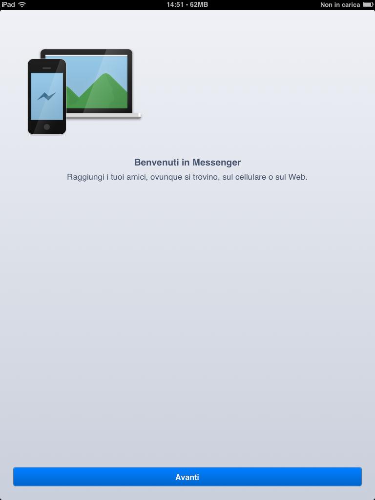 Facebook Messenger (howto, iPad screenshot 002)