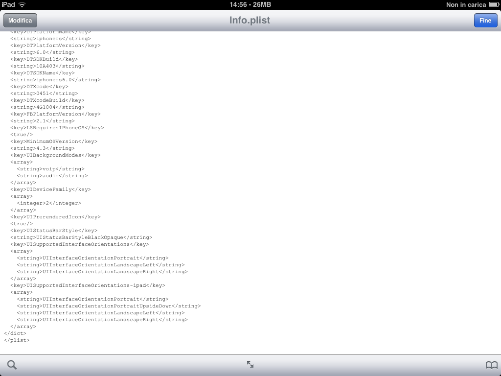 Facebook Messenger (iPad build hack, iFile output)