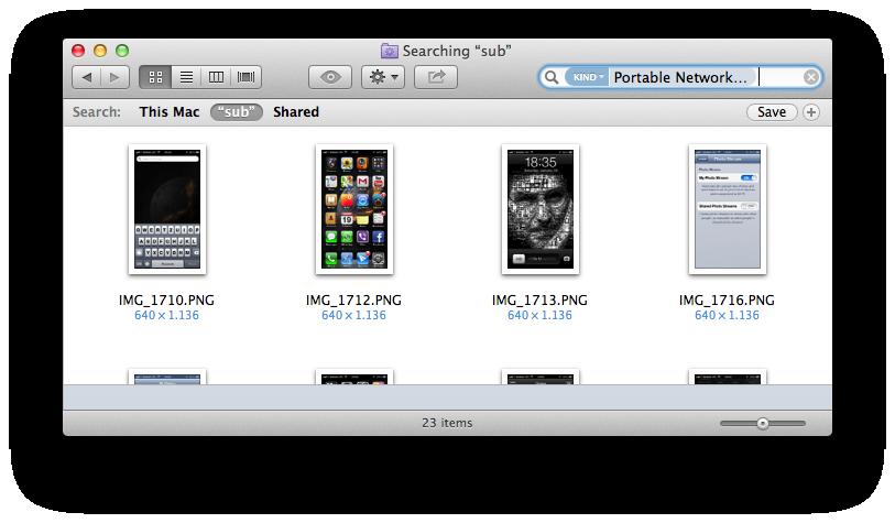 Finder (iCloud Photo Stream Smart Folder 002)