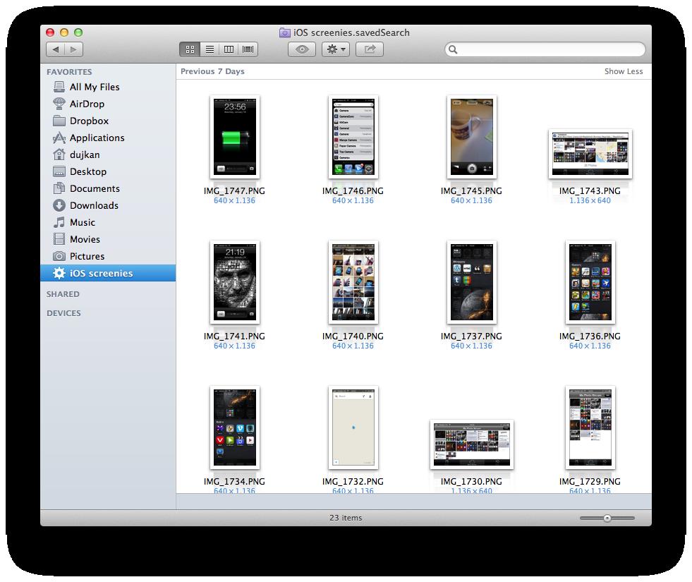 Finder (iCloud Photo Stream Smart Folder 005)