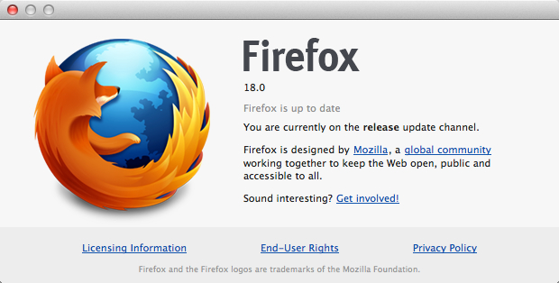 Firefox 18 (About)