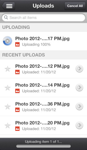 Google Drive 1.2.2 for iOS (iPhone screenshot 001)