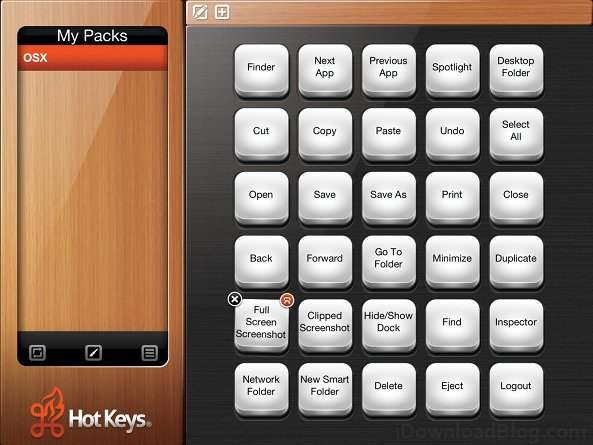 Hotkeys select
