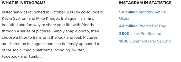 Instagram stats 20130117
