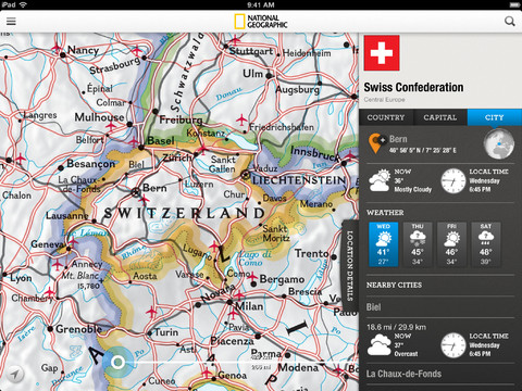 National Geographic World Atlas 3.0.1 for iOS (iPad screenshot 001)