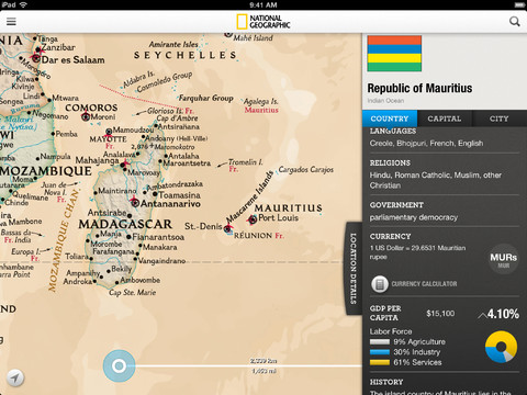 National Geographic World Atlas 3.0.1 for iOS (iPad screenshot 003)