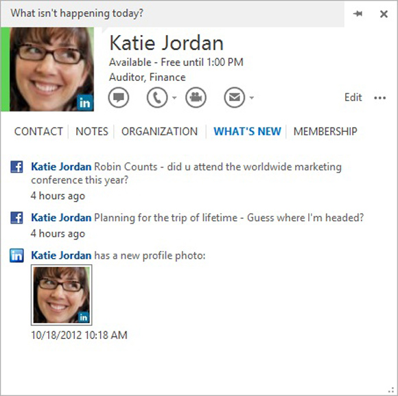 Office 365 Home Premium (Outlook People Card)