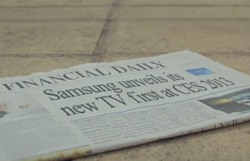 Samsung TV teaser (CES 2013, fake newspaper cover)
