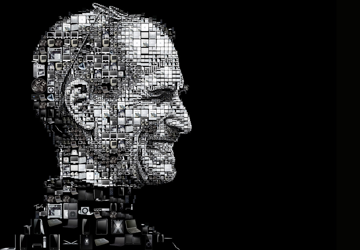 Happy birthday Steve Jobs! (A mosaic portrait for the Los Angele
