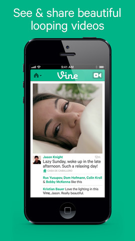 Vine 1.0 for iOS (iPhone screenshot 001)