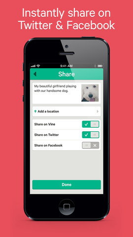 Vine 1.0 for iOS (iPhone screenshot 003)