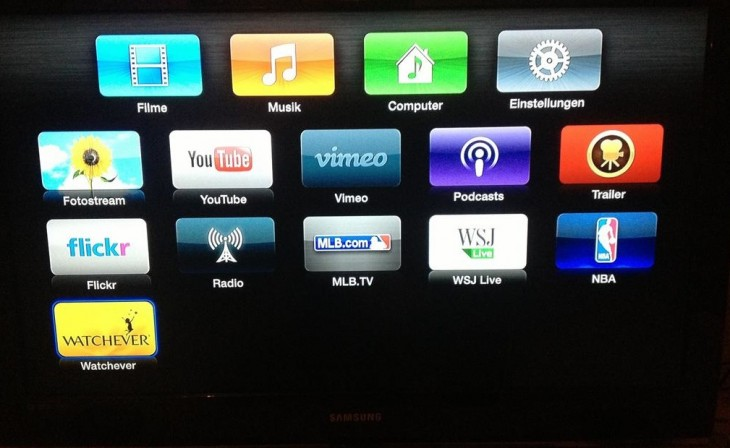 Watchever on Apple TV
