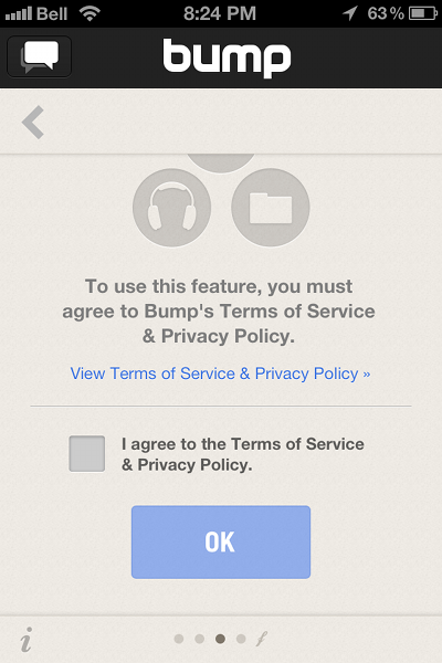 bump dropbox privacy policy