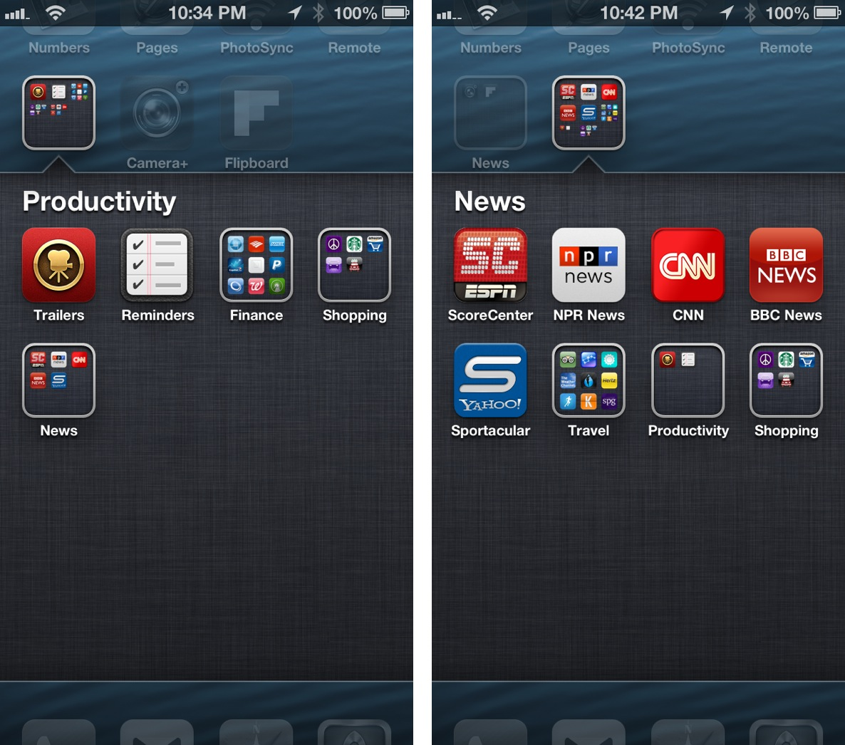 iPhone 5 Folders in Folders
