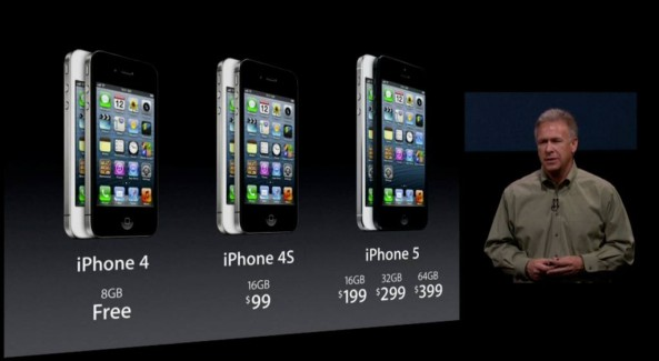 iPhone 5 presser (Phil Schiller, iPhone family prices)