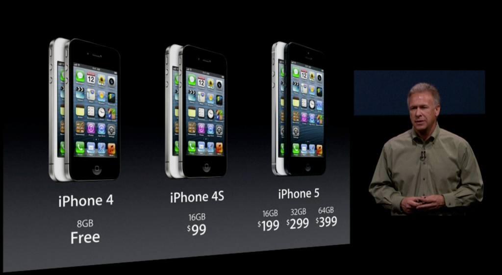 iPhone 5 presser (Phil Schiller, iPhone family prices)