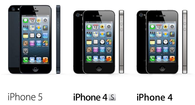 iPhones (iPhone 5, iPhone 4S, iPhone 4)