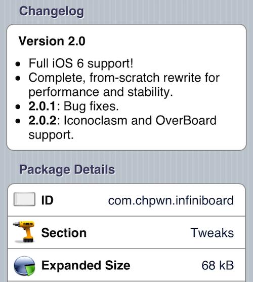 infiniboard update