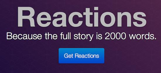reactions header