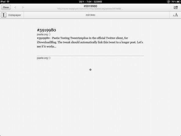 tweetamplius instapaper