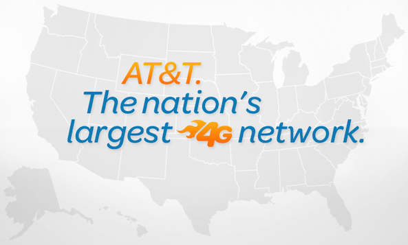 AT&T largest 4g network