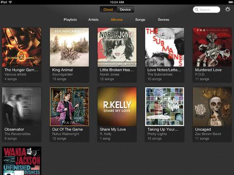 Amazon Cloud Player 2.0 for iOS (iPad screenshot 002)