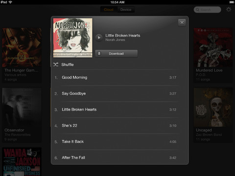 Amazon Cloud Player 2.0 for iOS (iPad screenshot 003)