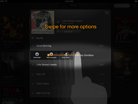 Amazon Cloud Player 2.0 for iOS (iPad screenshot 004)