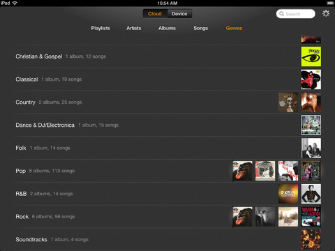 Amazon Cloud Player 2.0 for iOS (iPad screenshot 005)