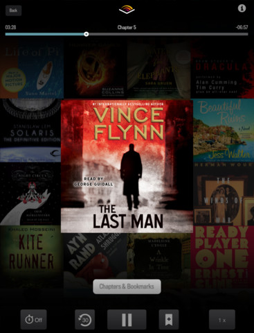 Audiobooks from Audible 2.0 for iOS (iPad screenshot 002)