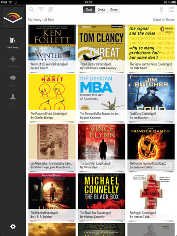 Audiobooks from Audible 2.0 for iOS (iPad screenshot 003)