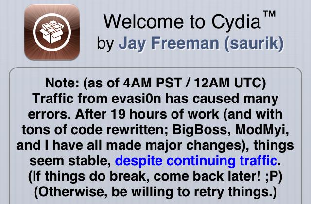 Cydia traffic