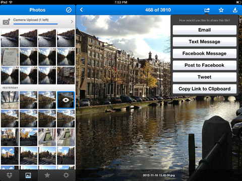 Dropbox 2.1 for iOS (iPad screenshot 002)