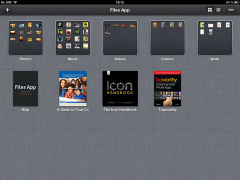 Files 1.0 for iOS (iPAd screenshot 001)