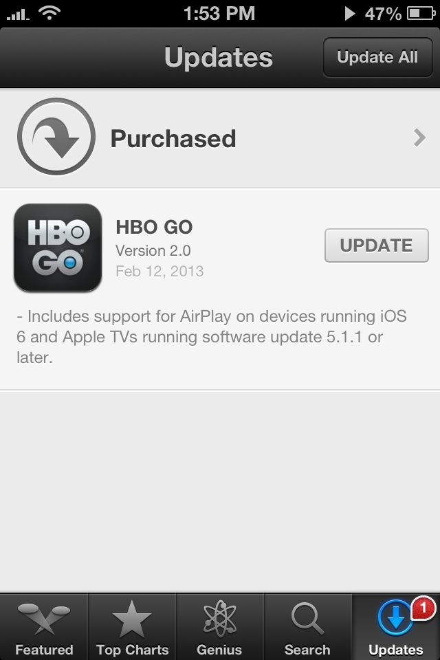 HBO Go 2.0 for iOS (changelog)