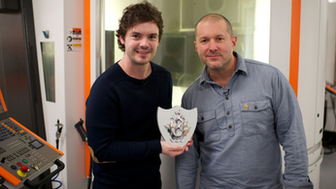 Jony Ive receives gold Blue Peter Badge
