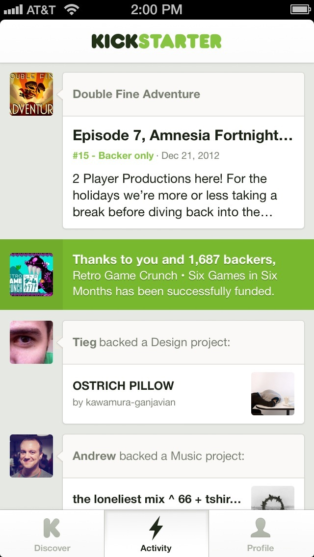 Kickstarter 1.0 for iOS (iPhone screenshot 002)