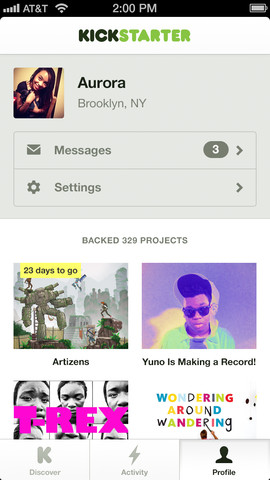 Kickstarter 1.0 for iOS (iPhone screenshot 004)