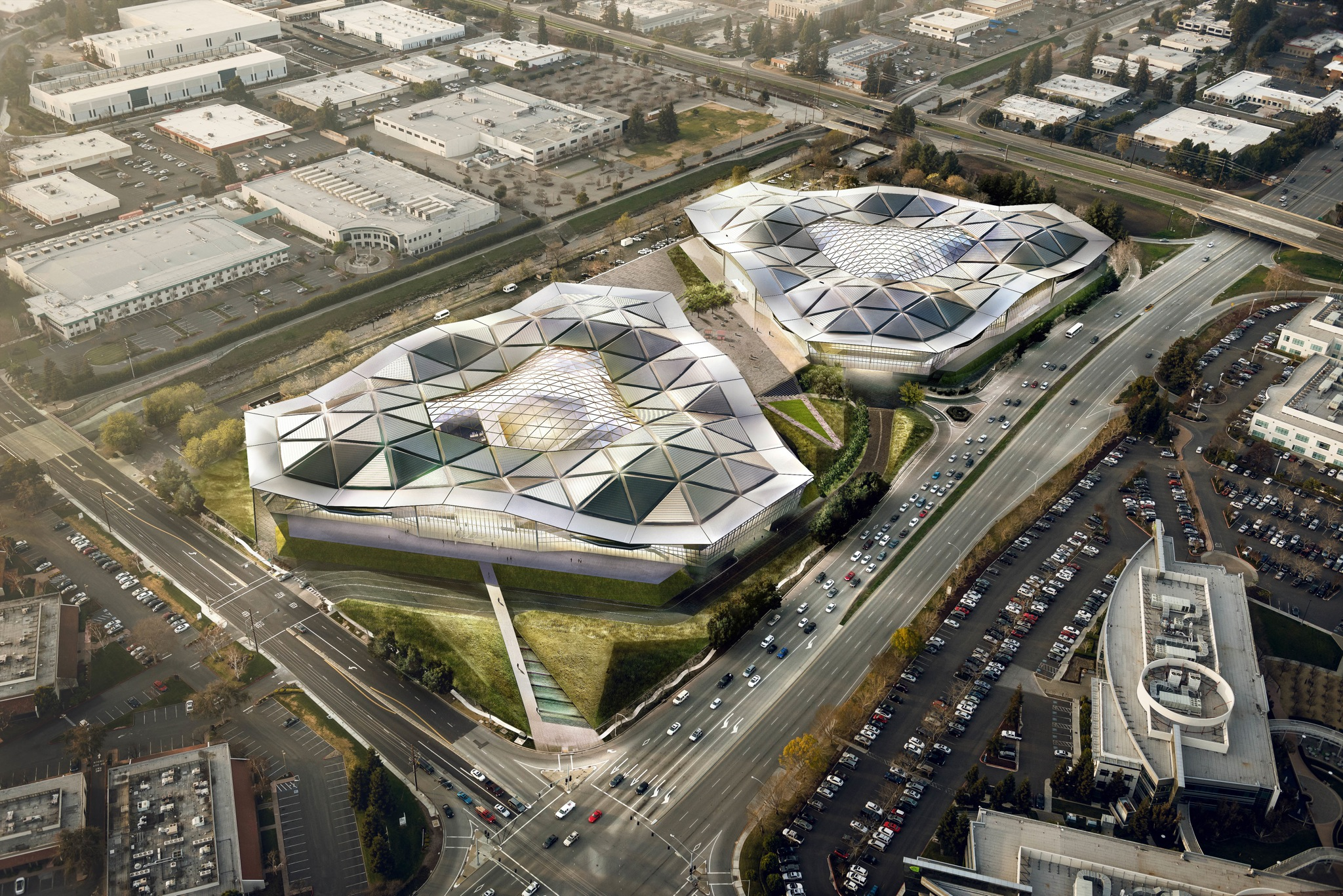 Nvidia new headquarters (aerial 001)