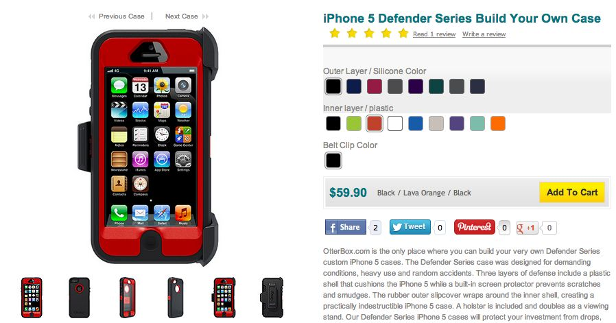 OtterBox Defender Series (customizable, iPhone 5)
