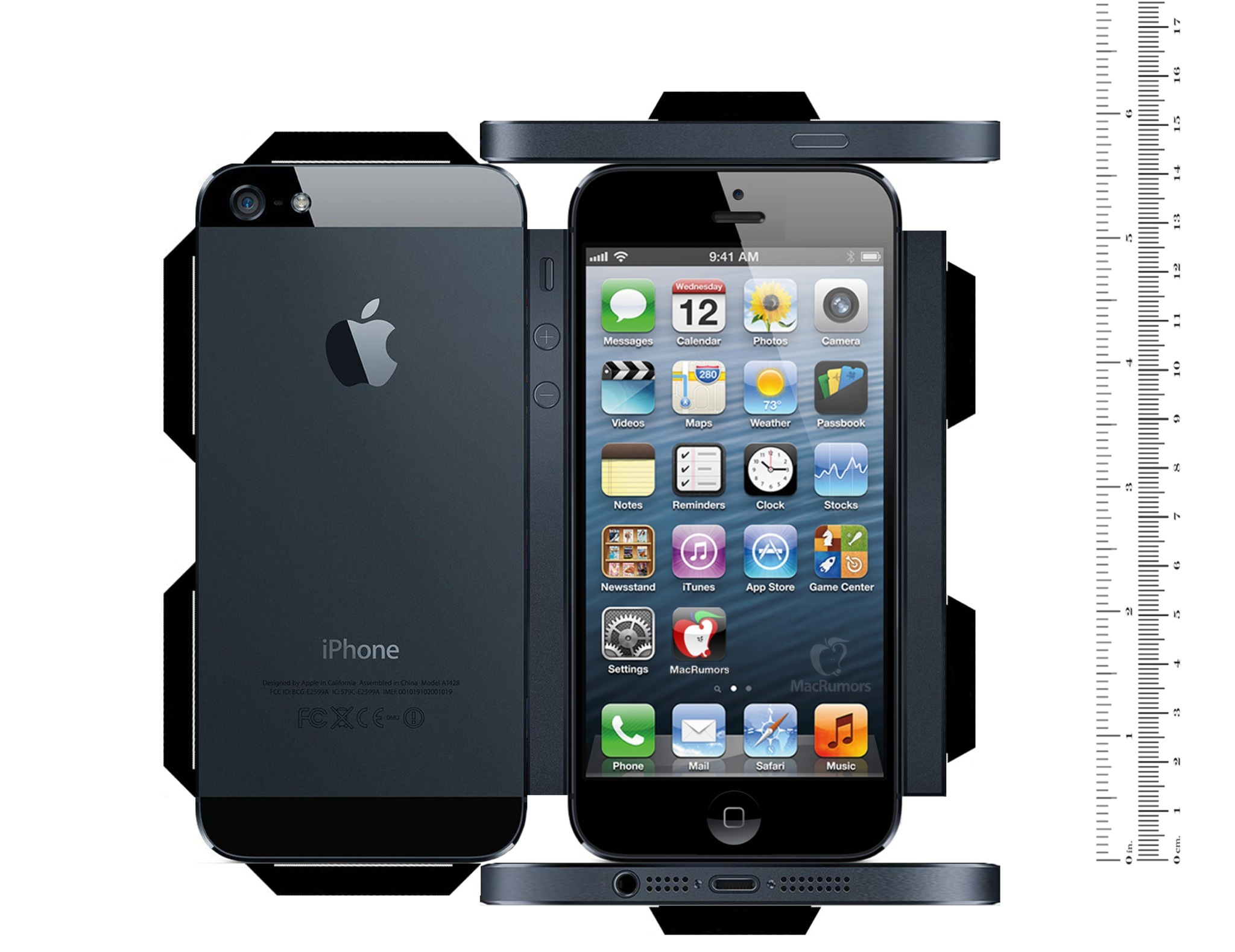Papercraft five inch iPhone model (CiccareseDesign 001)