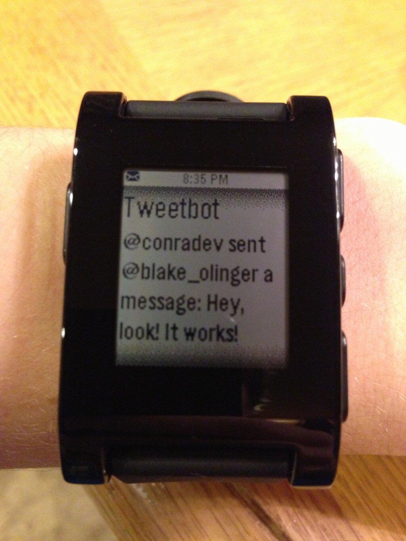 Pebble Tweetbot