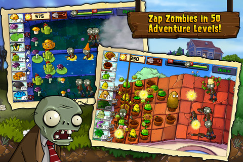 Plants vs. Zombies for iOS (iPad screenshot 001)