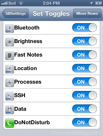 SBSettings Do Not Disturb