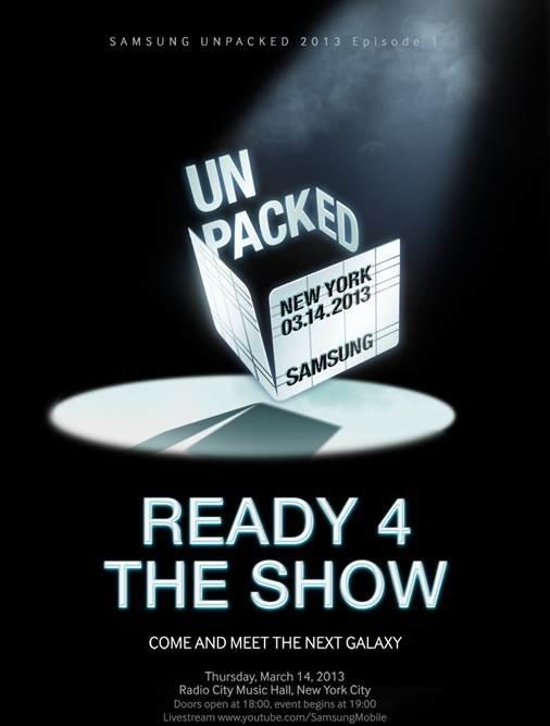Samsung Unpacked 2013 (invitation)