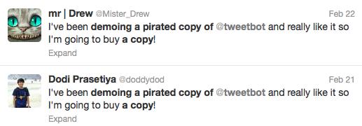 Scpirated tweetbot tweet