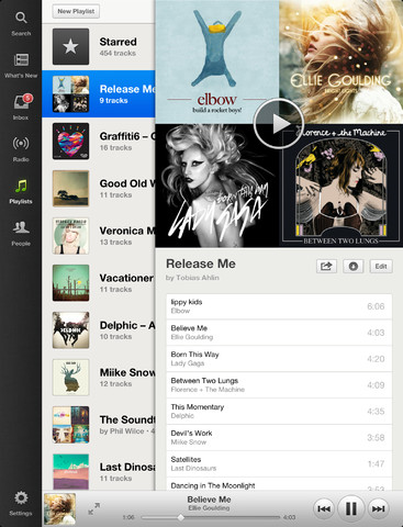 Spotify 0.6 for iOS (iPad screenshot 001)